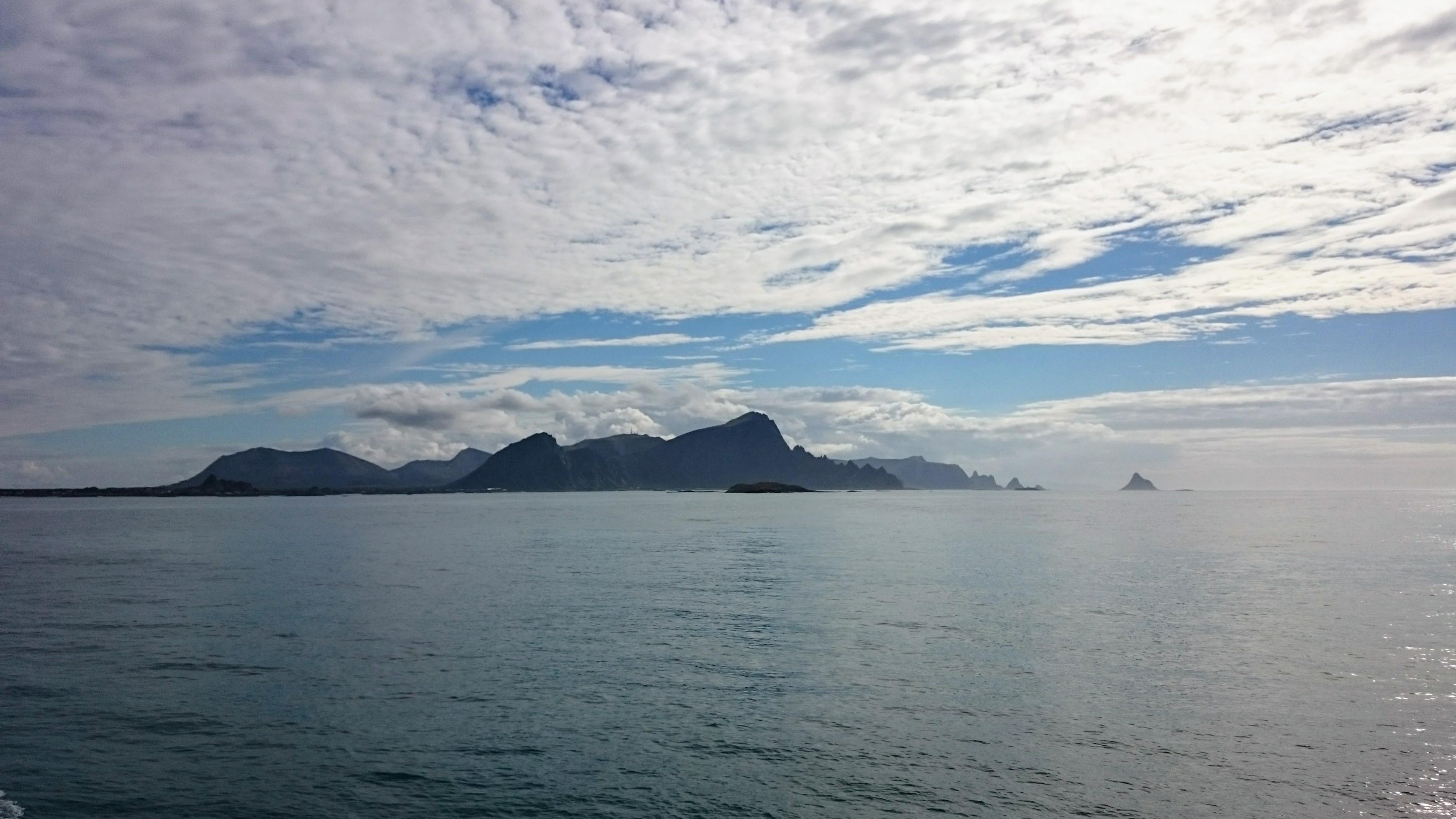Ostrov Andoya z moře
