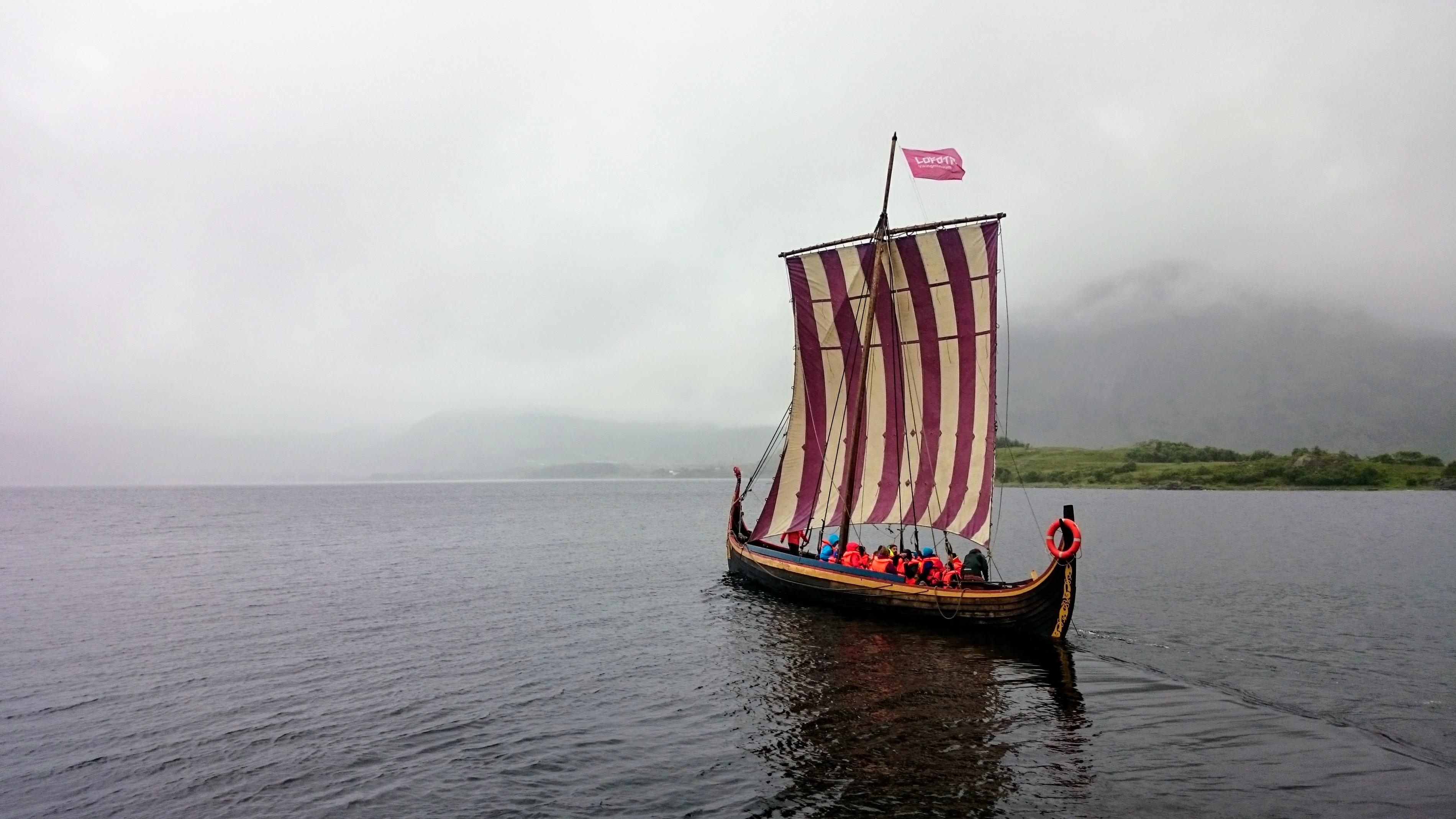 Zmenšená replika vikingské lodi
