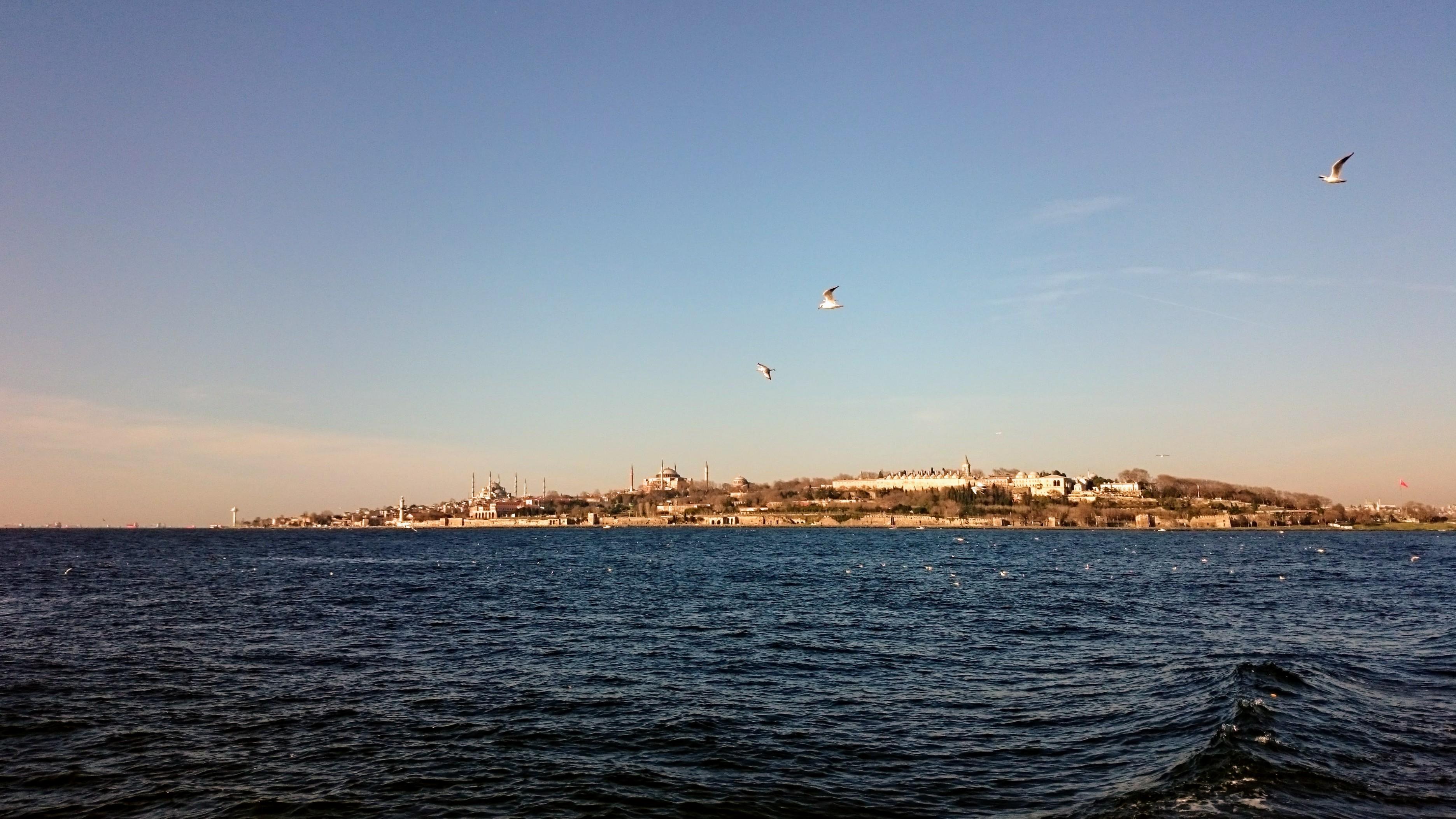 Pohled na staré město z moře