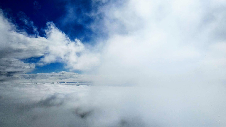 Nad mraky, vrchol Húsavíkurfjall