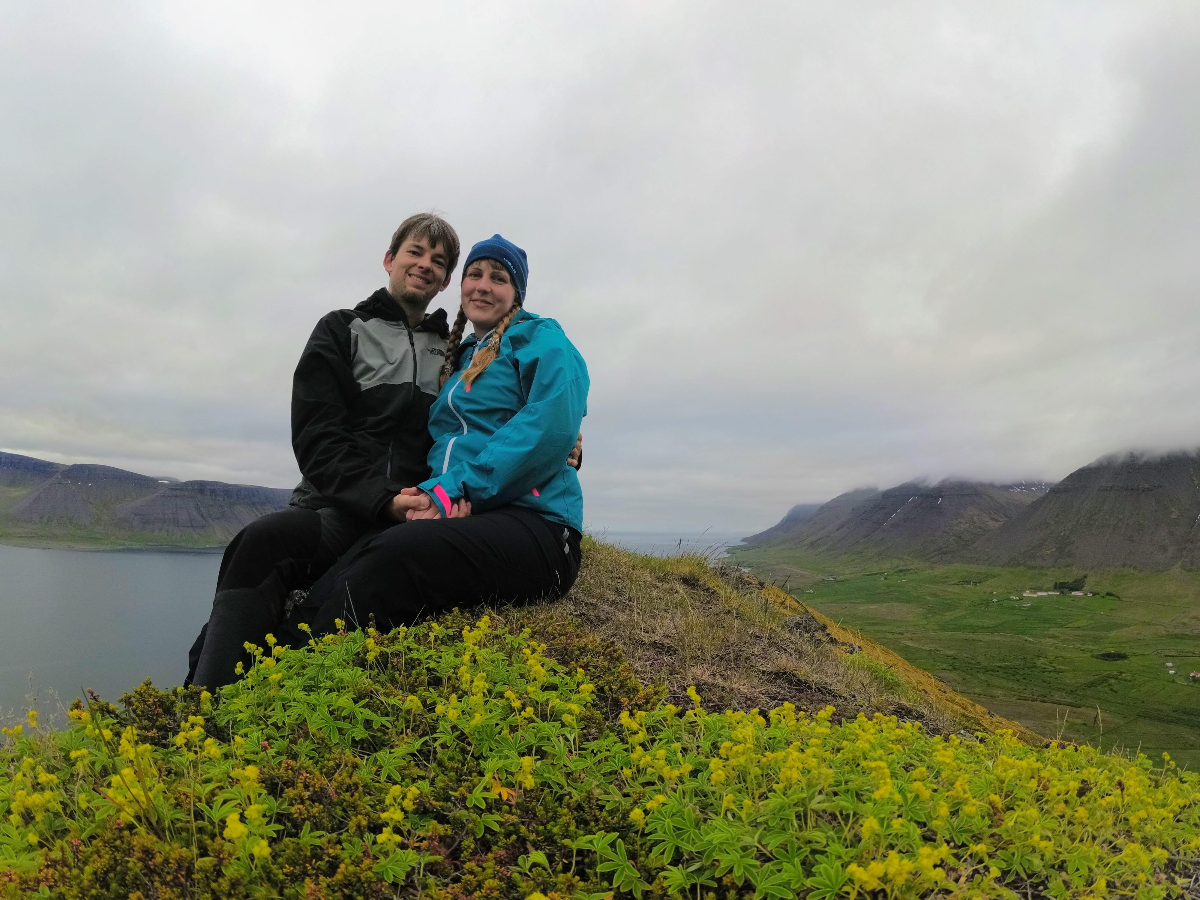 Vrcholová fotka na západních fjordech