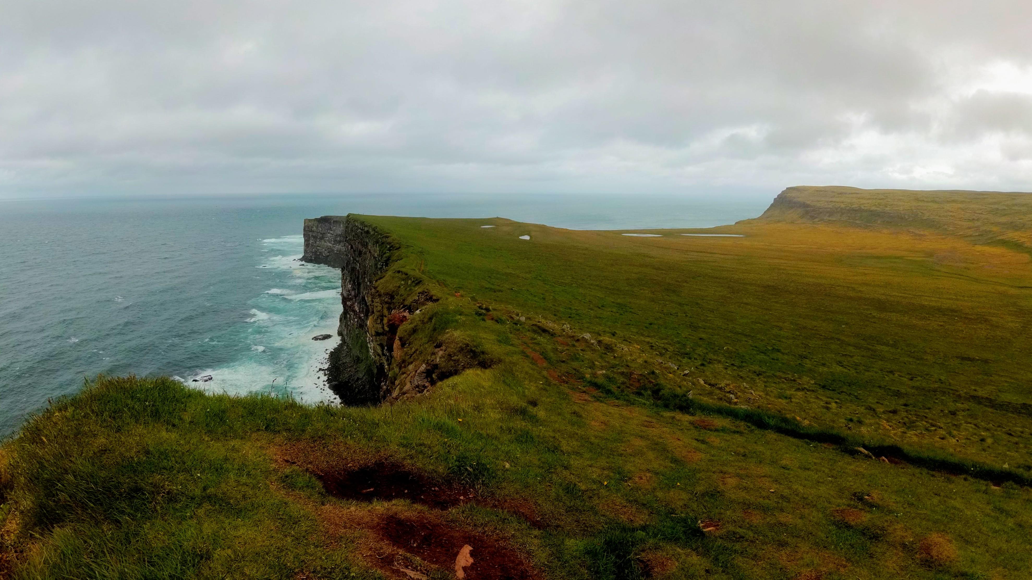 Vysoké útesy na nejzápadnějším místě Islandu