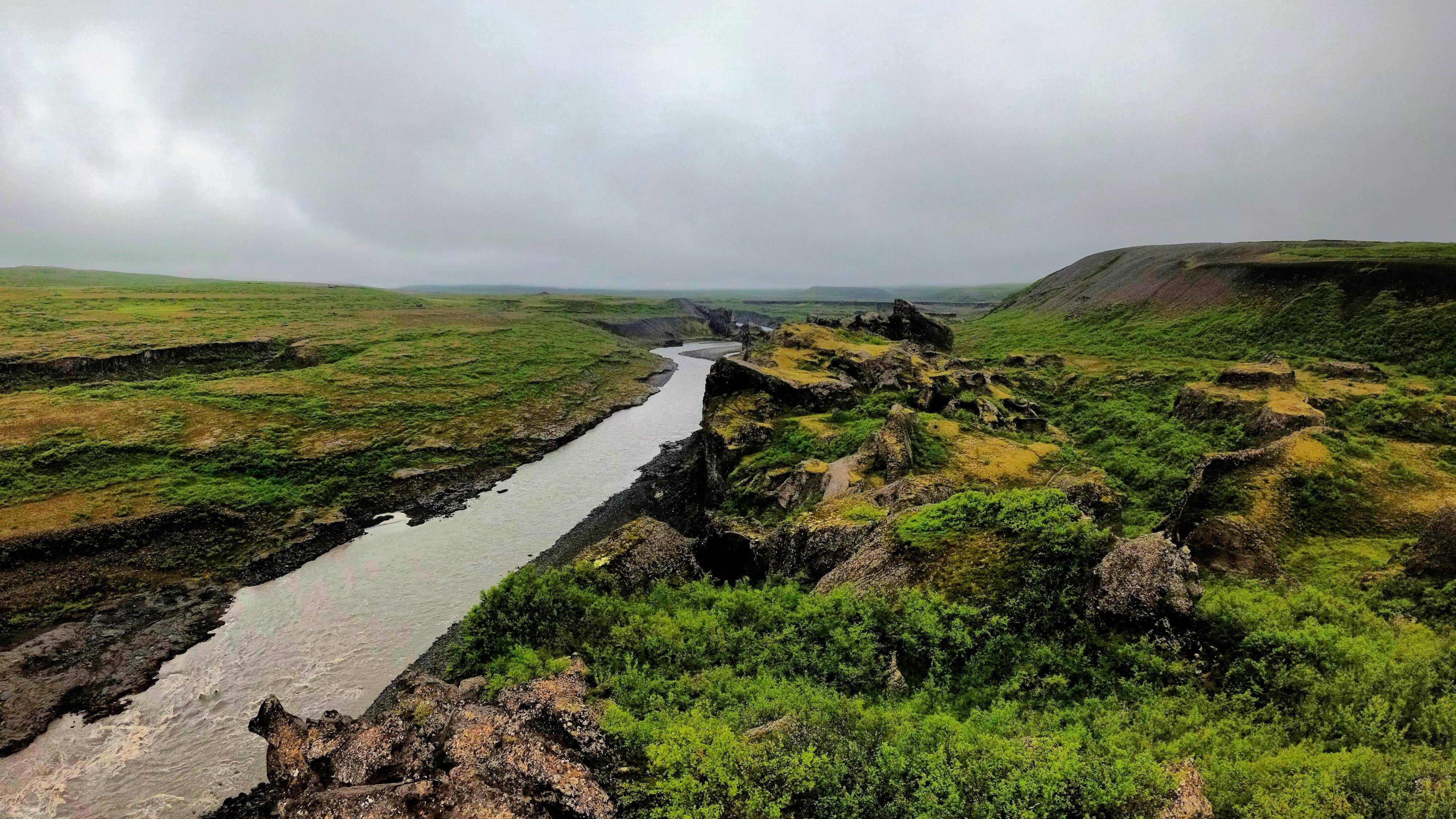 Krajina kolem řeky Jökulsá á Fjöllum