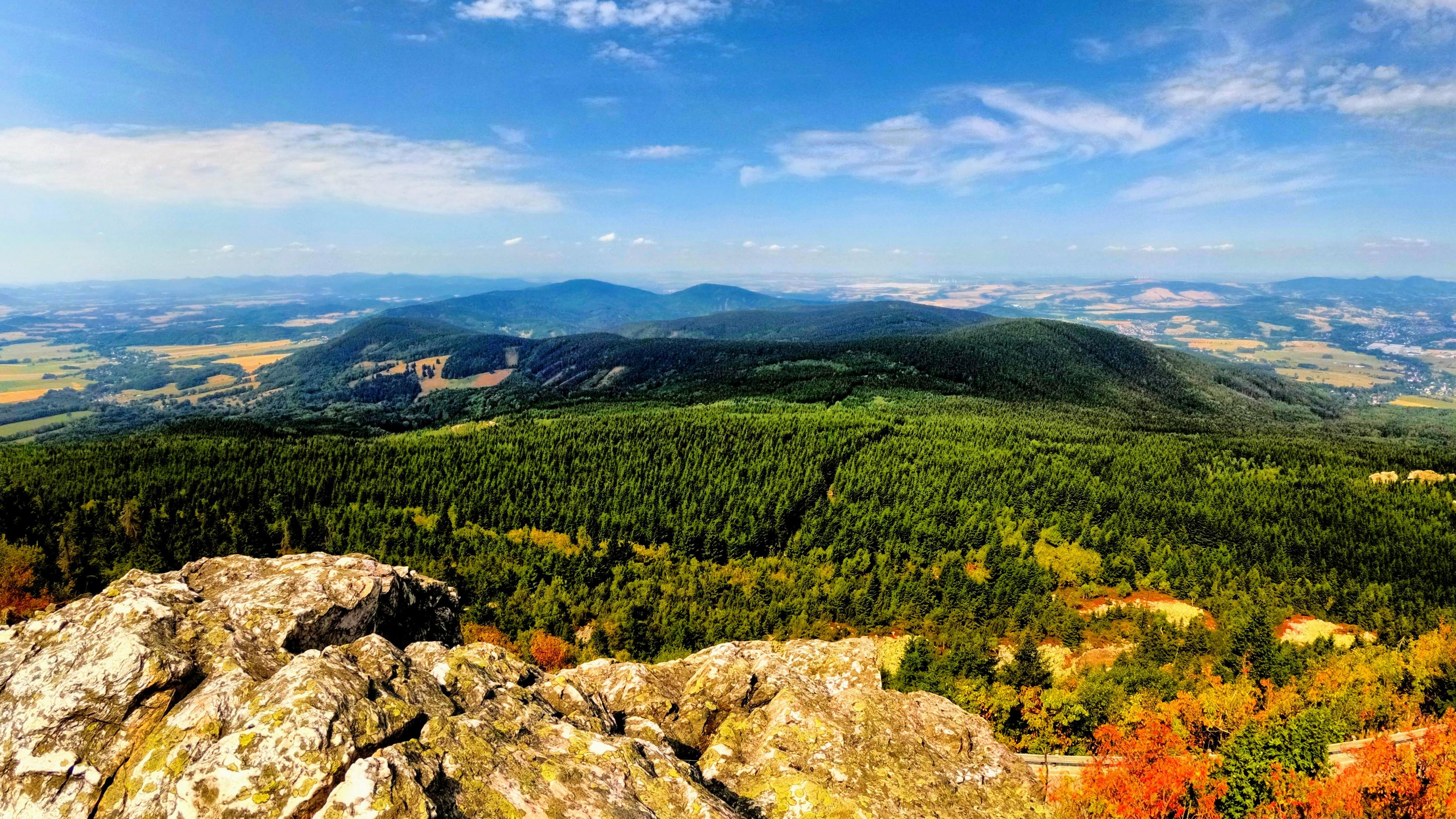 Výhled z hory Ještěd