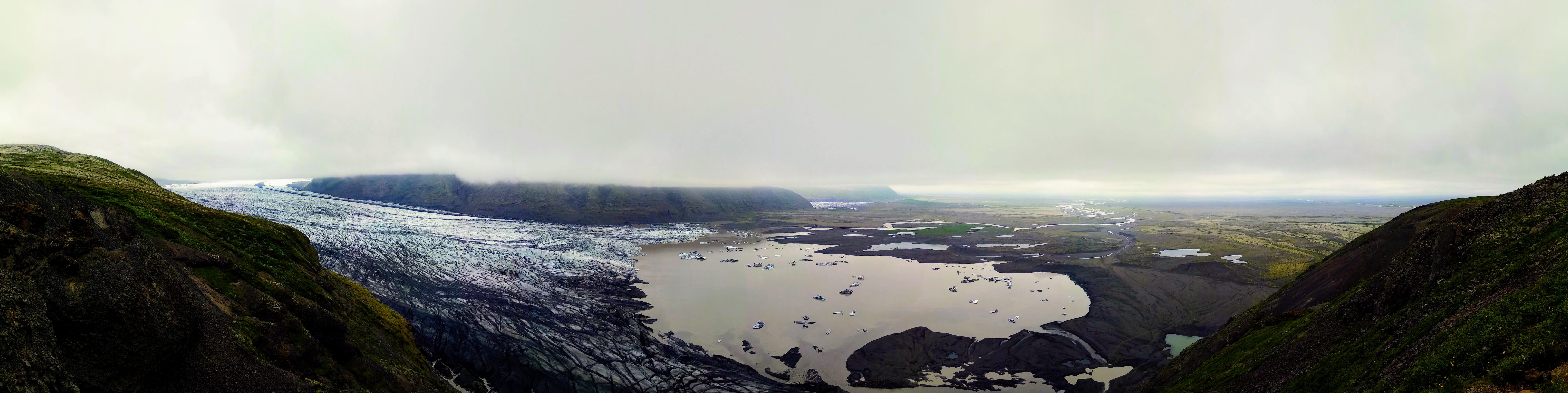 Ledovcový splaz Skaftafellsjökull