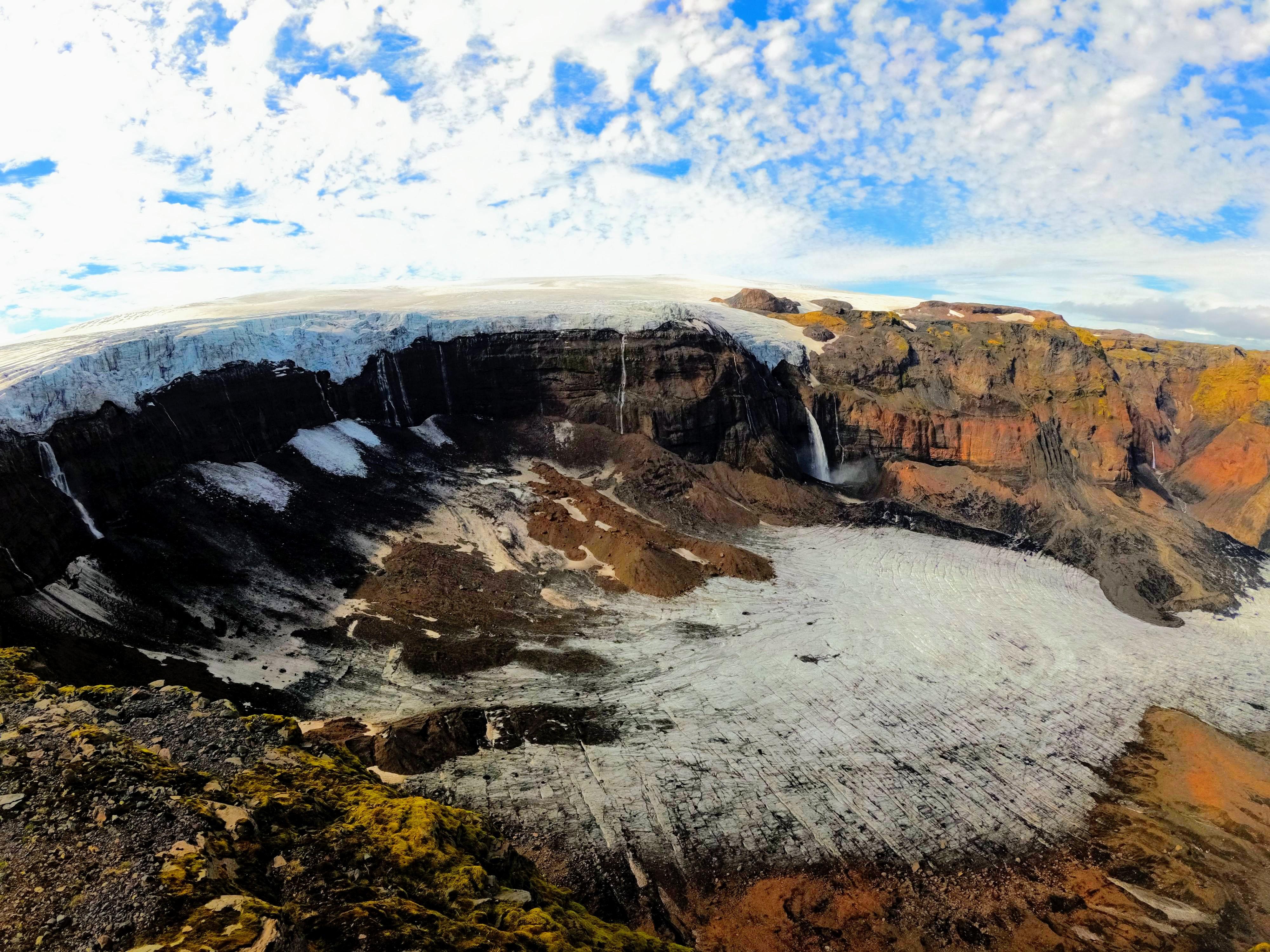 Vyhlídka na ledovec Mýrdalsjökull
