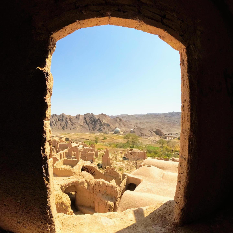 Opuštěné hliněné město Kharanaq