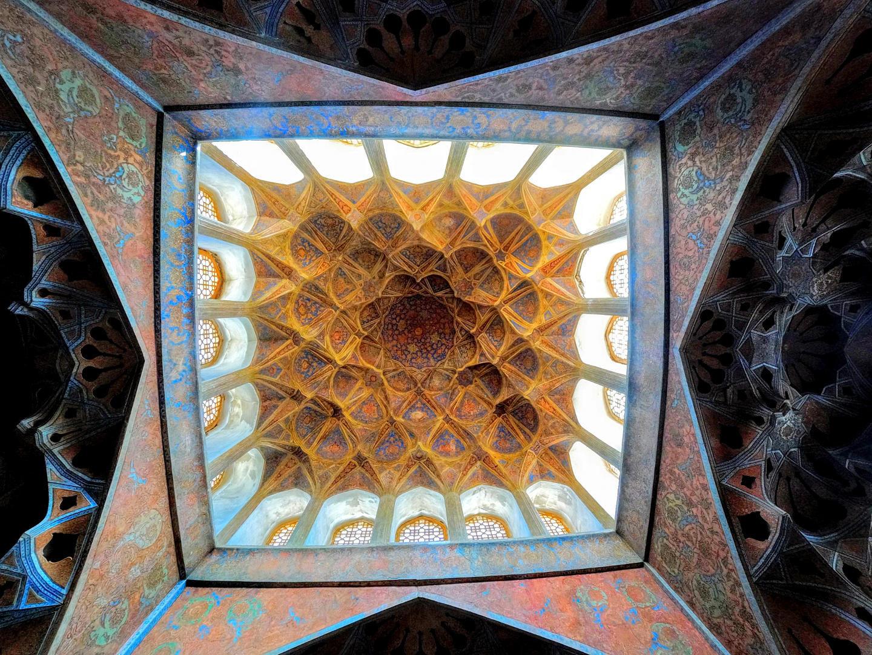 Nádherné stropy, Palác Ālī Qāpū