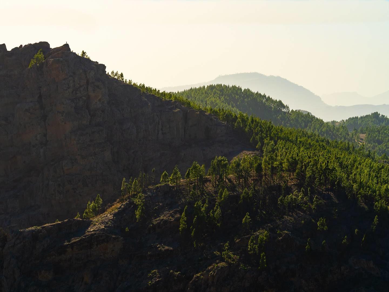 Výhled z vrcholu Pico de las Nieves