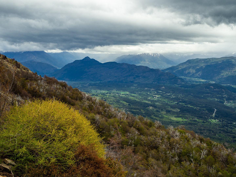 Vyhlídka od chatičky Refugio Piltriquitrón