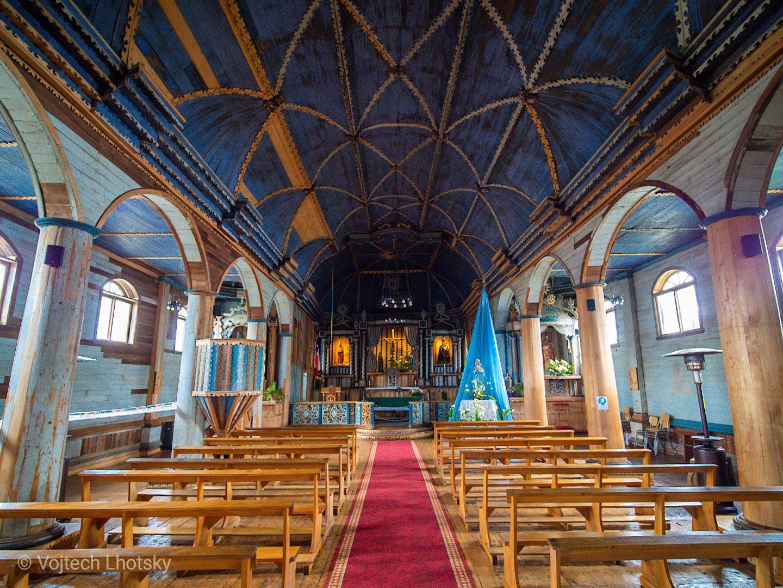 Dřevěné kostely na ostrově Chiloé