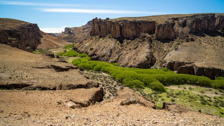Kaňon řeky Pinturas