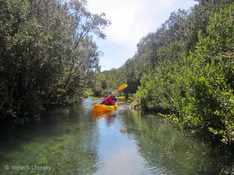 Kajaky na řece Maullín