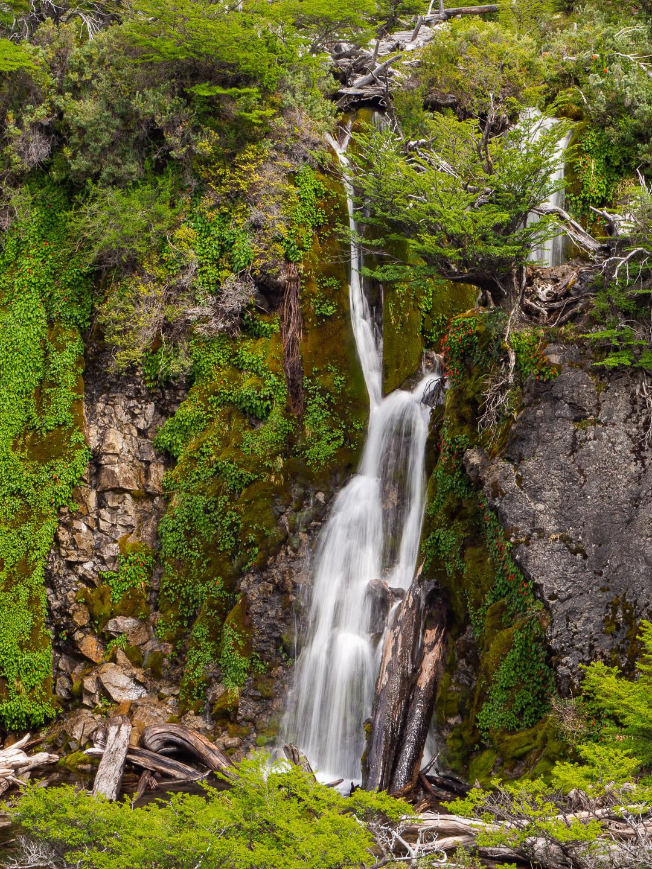 Vodopády v přírodním parku Los Huemules