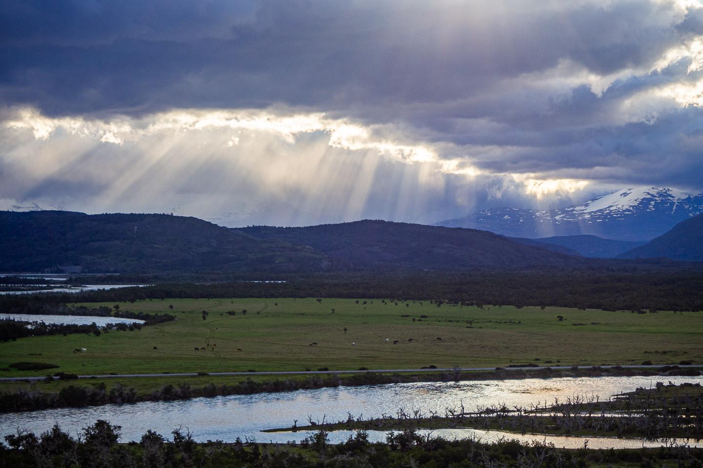 Večerní slunce v NP Torres del Paine