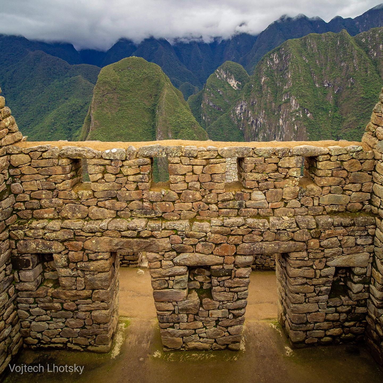 Kamenná stavba v Machu Picchu
