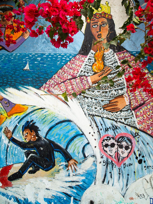 Street Art ve čtvrti Barranco