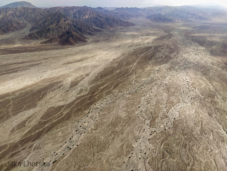 Vyschlé řeky v poušti Nazca