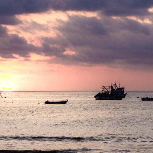 Západ slunce v Puerto López