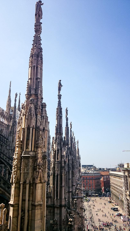 Věže dómu v Miláně